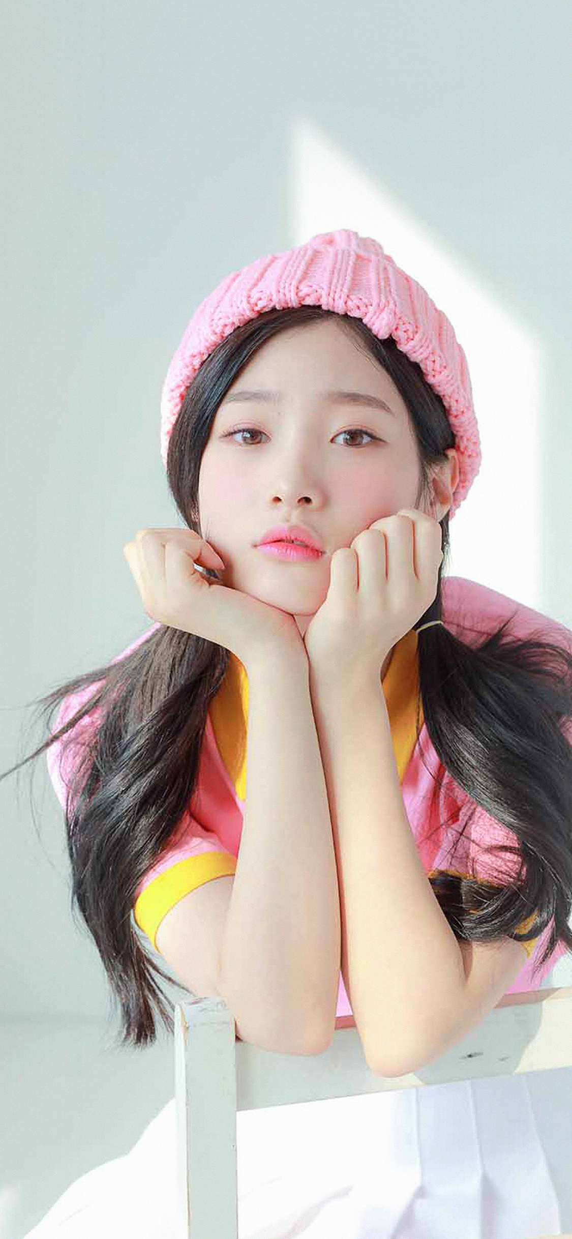 Droid X Girl Wallpaper Hm45 Ioi Chaeyeon Girl Pink White Asian Wallpaper
