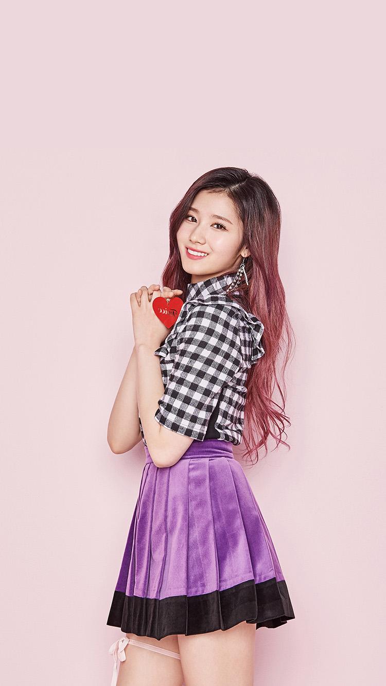 Cute Girl Iphone 6 Wallpaper Hm54 Pink Sana Girl Kpop Twice Asian Wallpaper