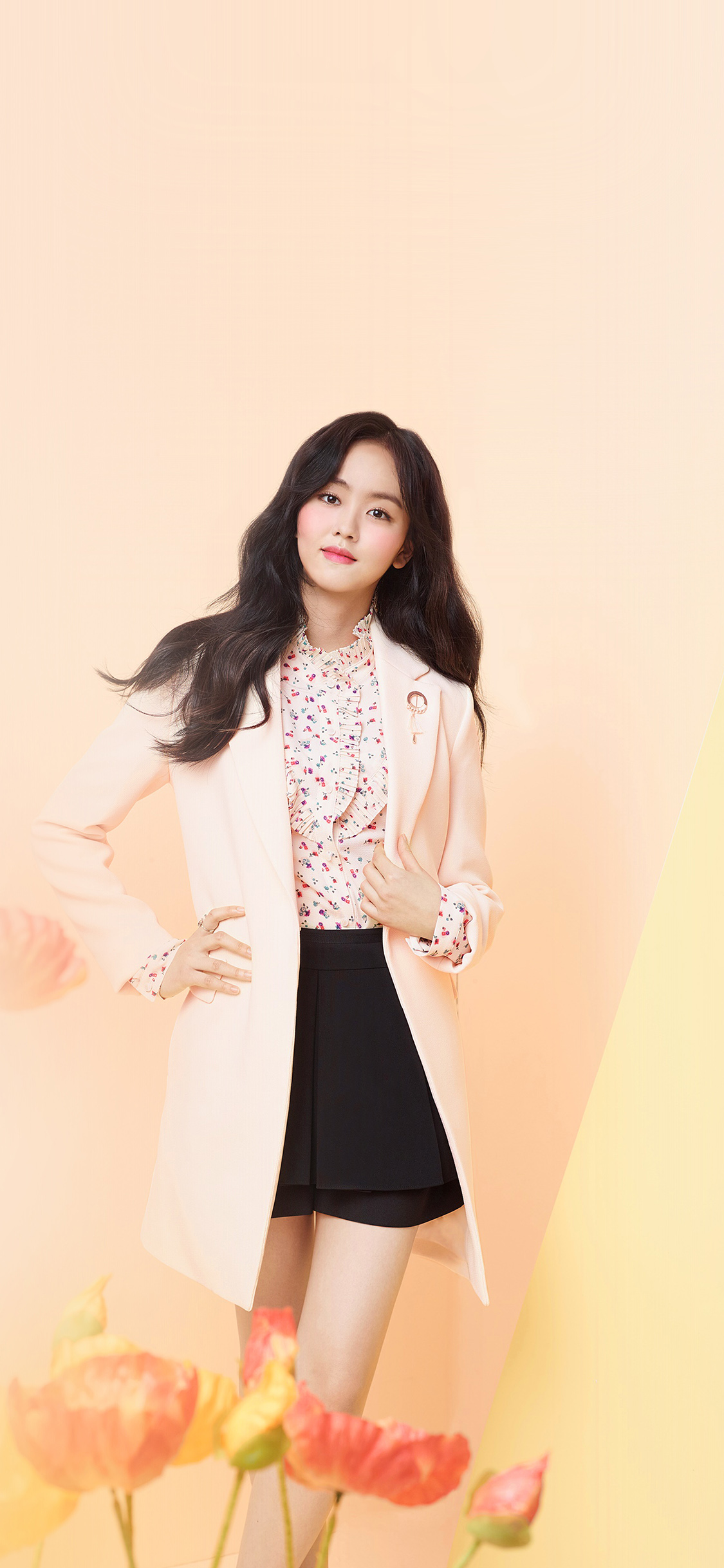 Droid X Girl Wallpaper Hm67 Kpop Girl Pink Pastel Color Wallpaper