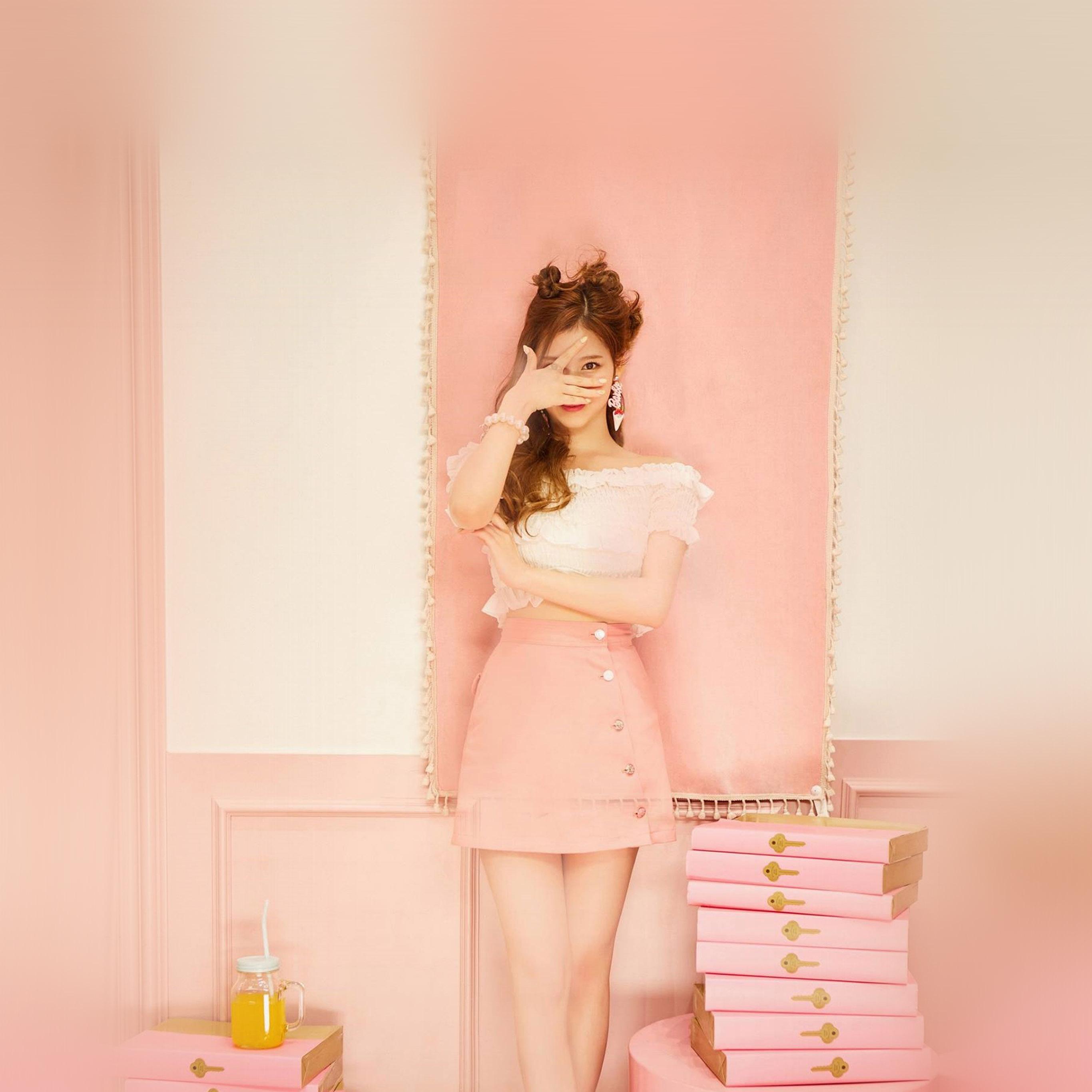Car Stickers Wallpapers Hn12 Sana Girl Twice Kpop Cute Pink Wallpaper