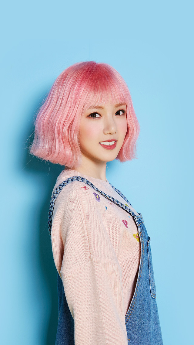 Car Girl Wallpaper Iphone Hn15 Pink Hair Asian Kpop Girl Wallpaper