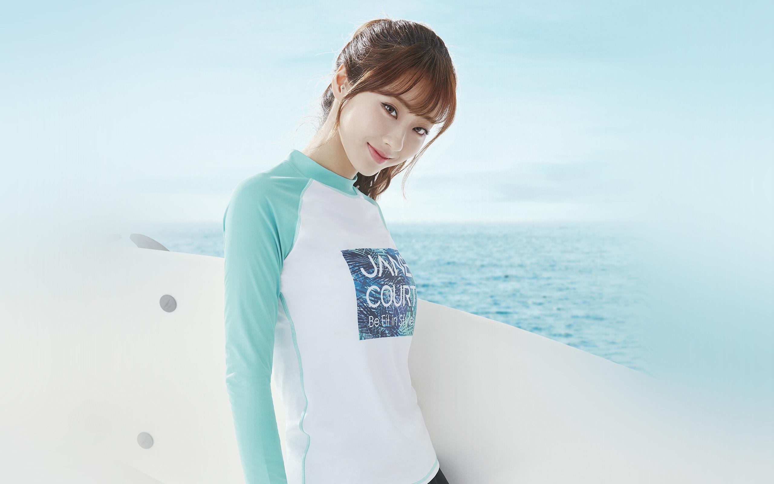 Wallpaper Hd Anime Girl Hn34 Summer Beach Beauty Sea Girl Wallpaper