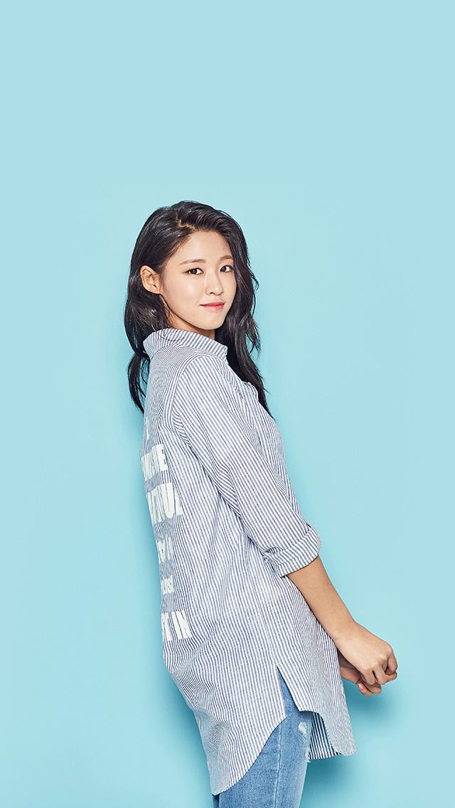 Droid X Girl Wallpaper Hn42 Sulhyun Blue Cute Kpop Girl Wallpaper
