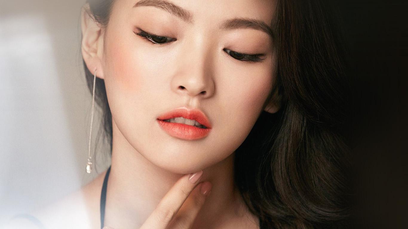 Girls Faces Wallpapers Hd Hn65 Asian Girl Face Dark Dress Wallpaper
