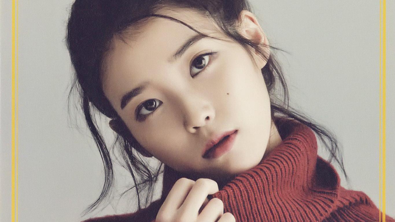 Cute Small Girl Hd Wallpaper Hn83 Iu Kpop Girl Singer Artist Cute Wallpaper