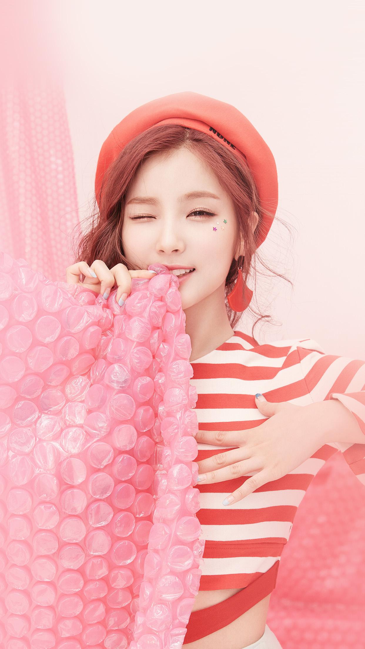 Kawaii Girl Wallpaper Ho25 Pink Asian Girl Cute Kpop Wallpaper