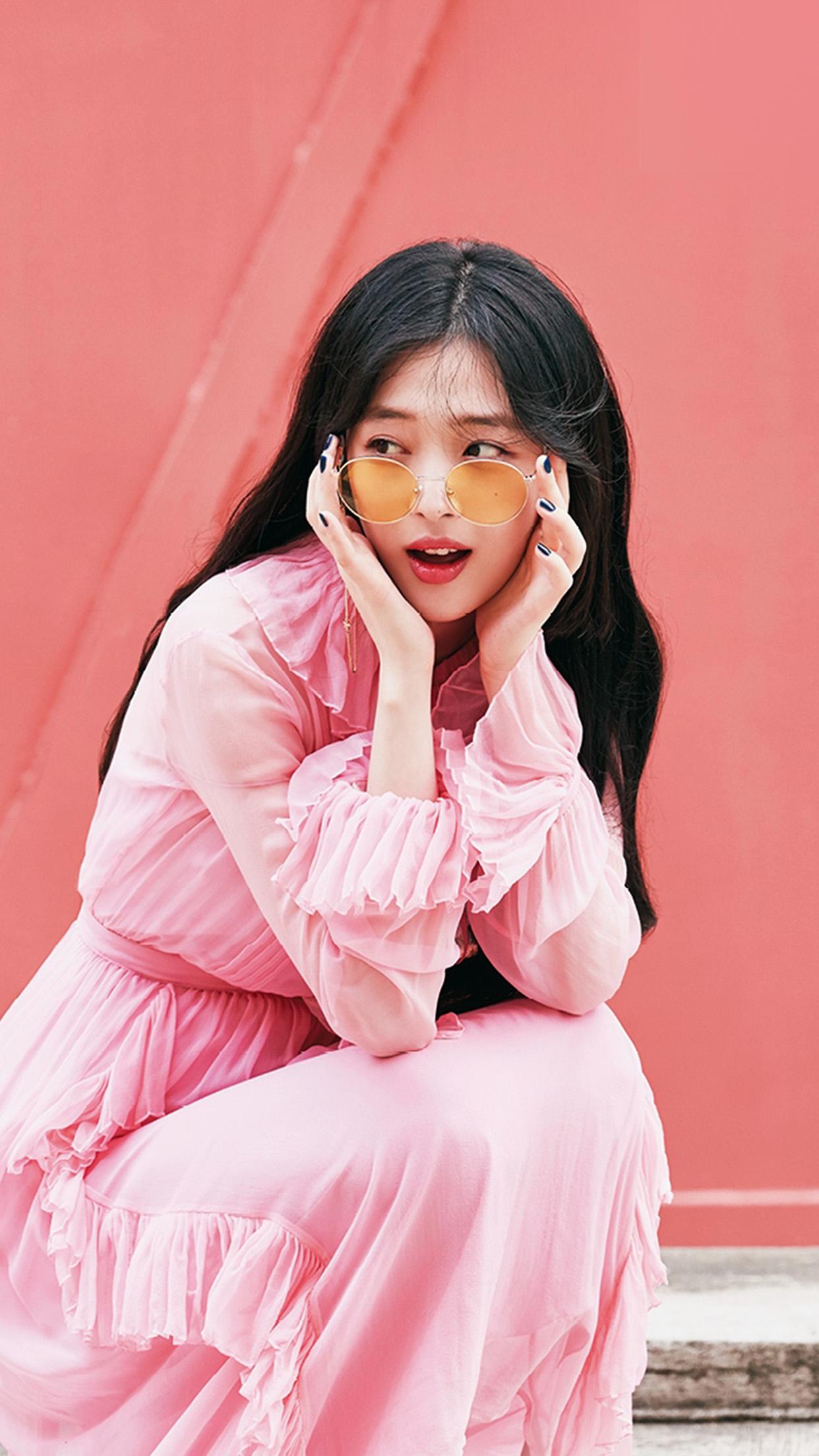 Cute Small Girl Wallpaper Ho95 Sulli Girl Kpop Pink Wallpaper