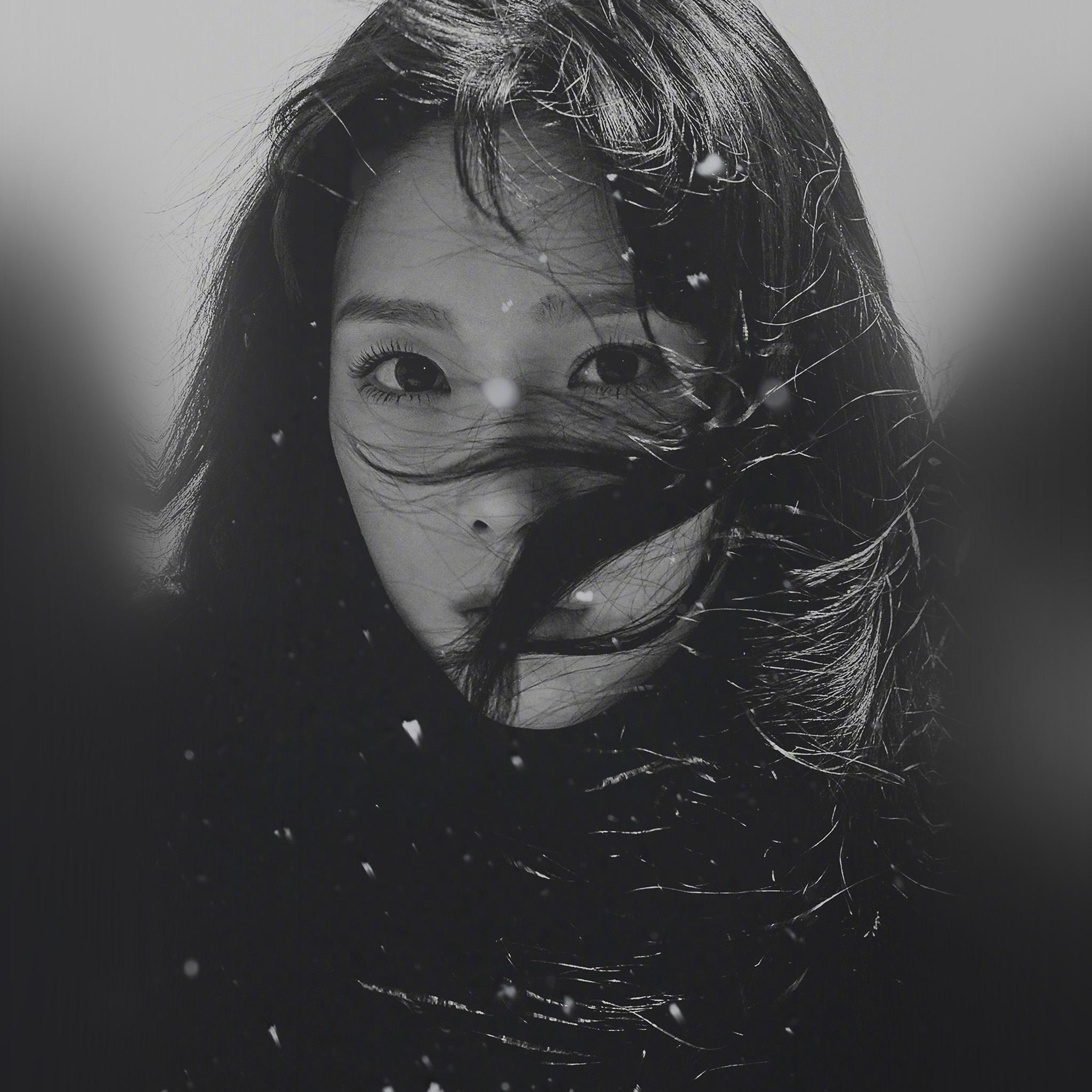 Kpop Girl Wallpaper Laptop Ho96 Kpop Taeyeon Girl Bw Dark Snsd Wallpaper