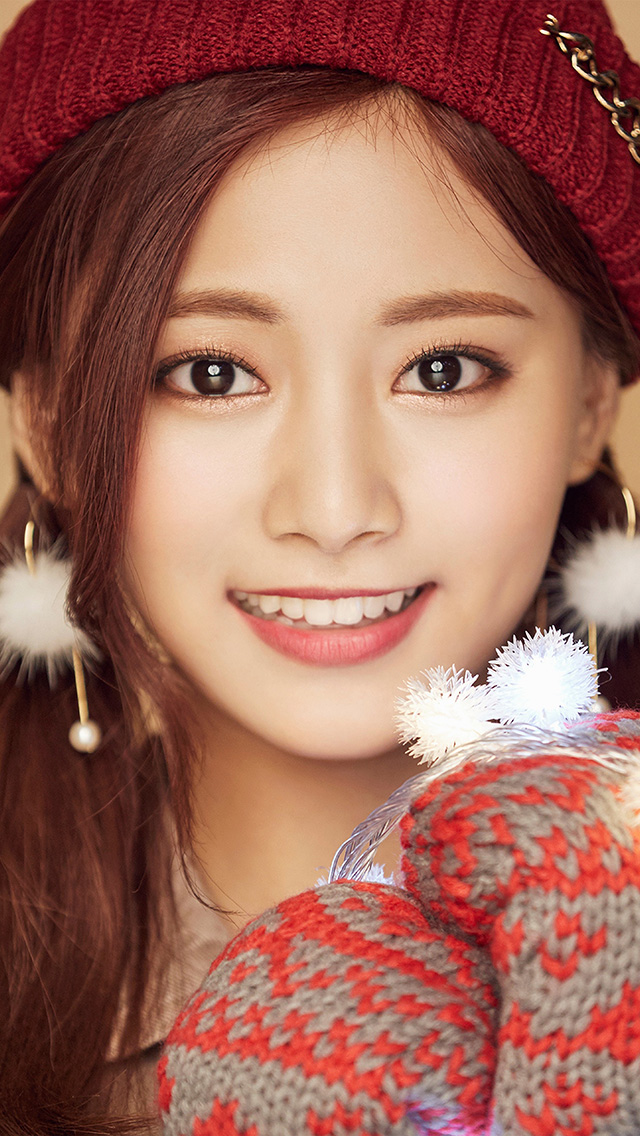 Wallpaper Hd Apple Logo Ho99 Christmas Girl Twice Tzuyu Happy Wallpaper