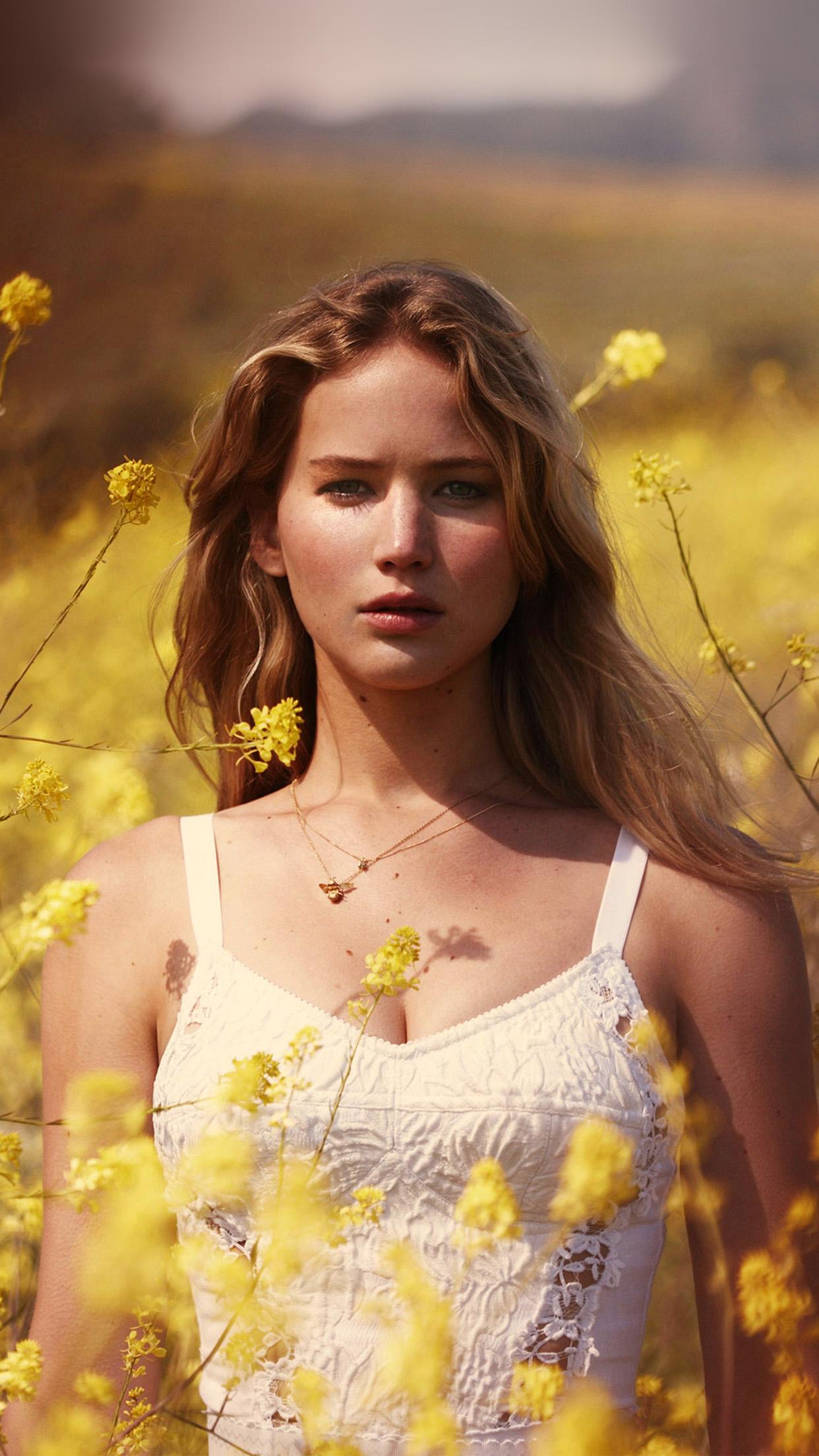 Imac Girl Wallpaper Hp47 Jennifer Lawrence Flower Spring Girl Celebrity Wallpaper