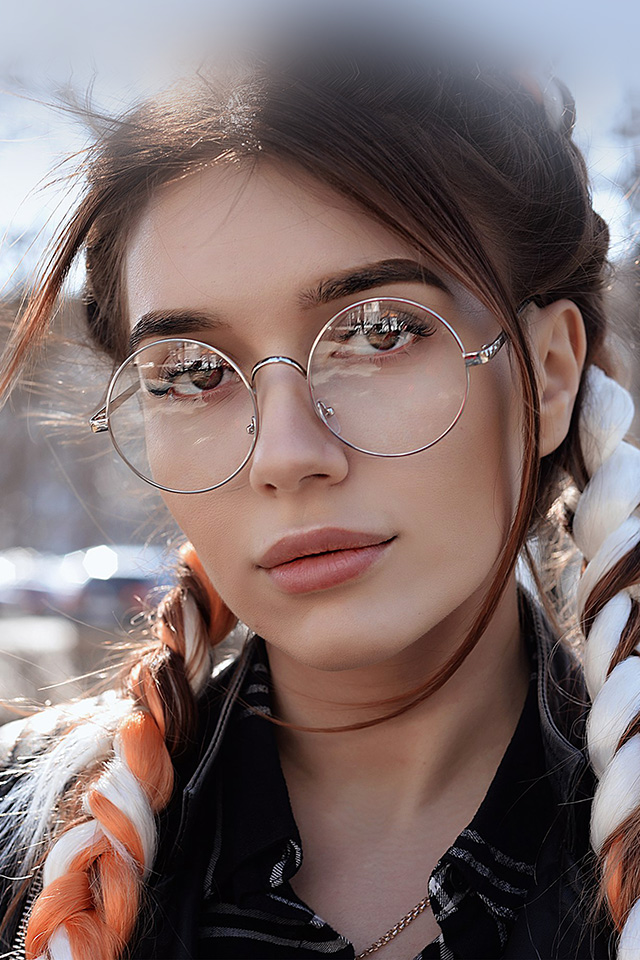 Cute Small Girl Wallpaper Hp49 Dua Lipa Girl Glasses Wallpaper