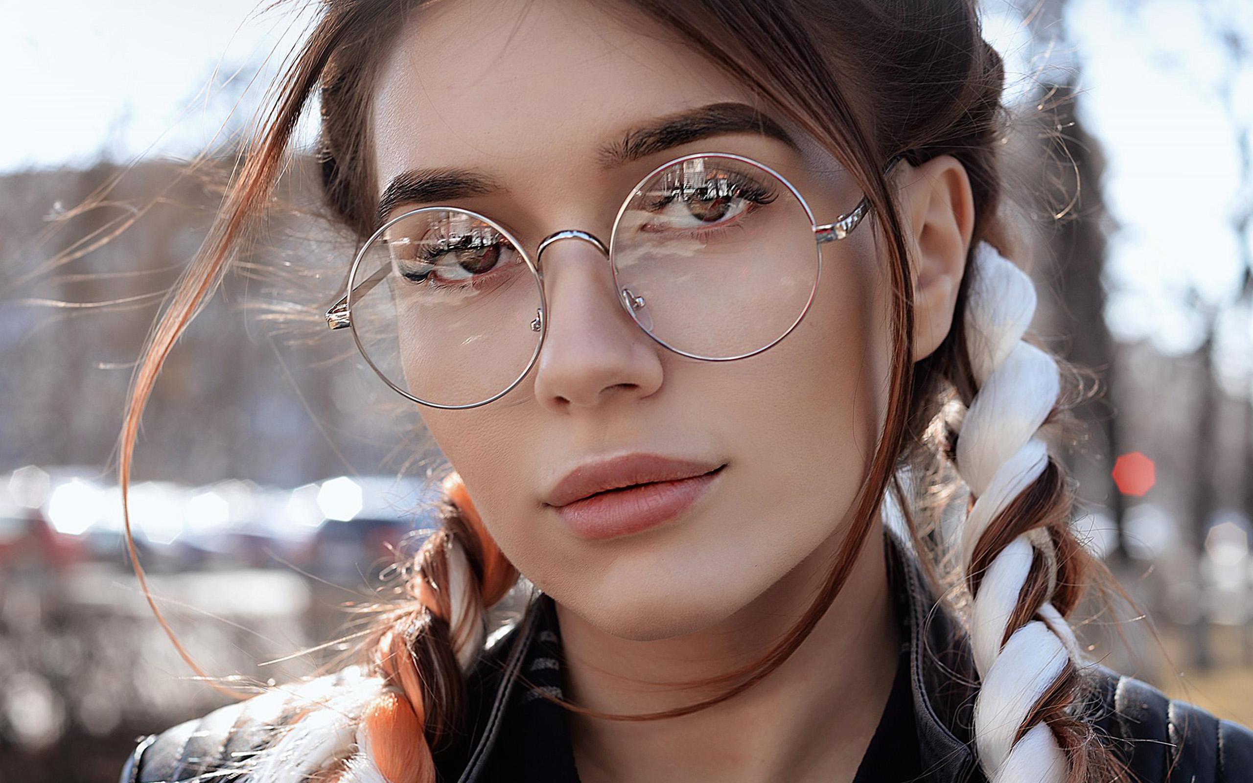 Beautiful Simple Girl Wallpaper Hp49 Dua Lipa Girl Glasses Wallpaper