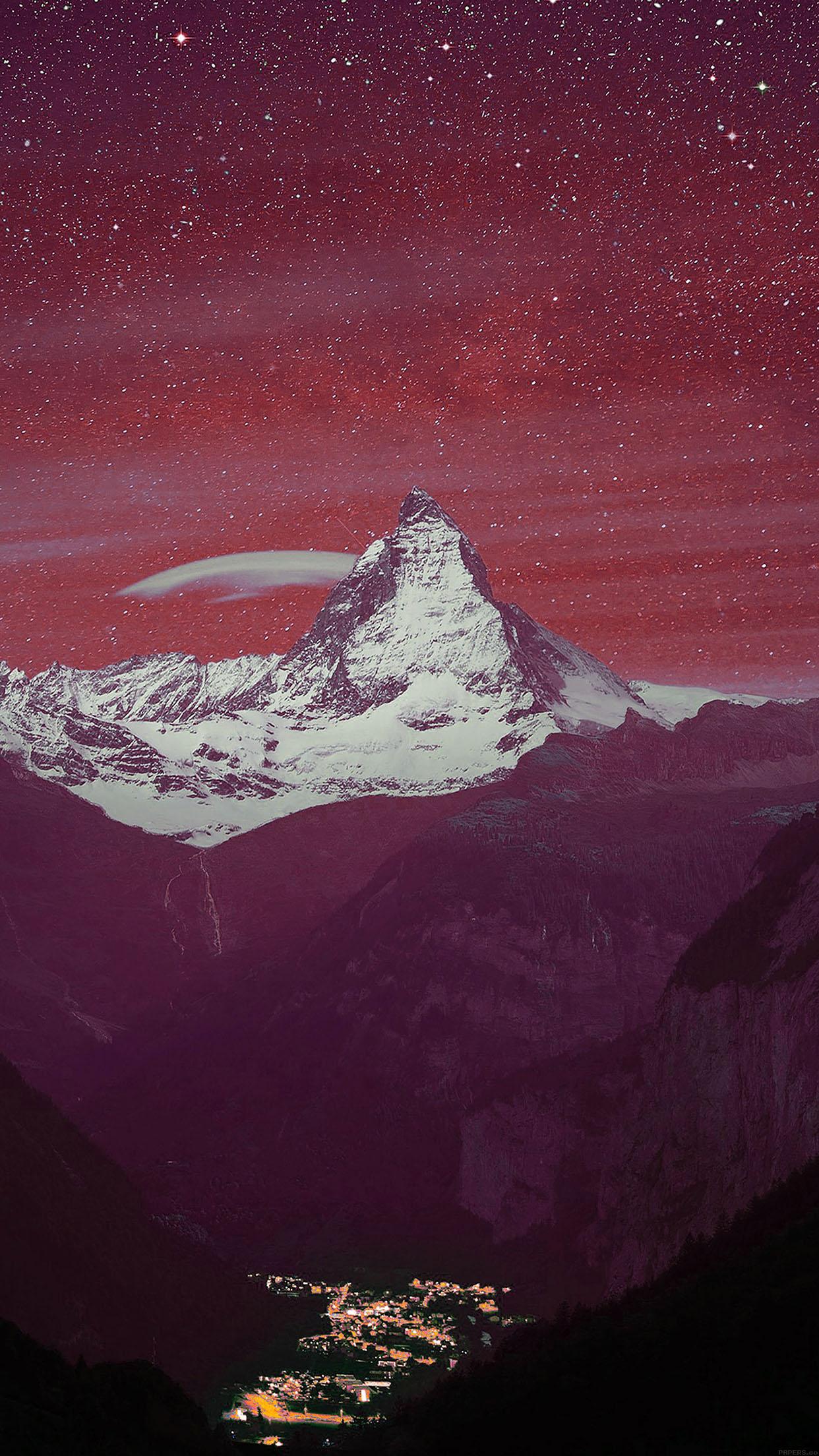 Winter Fall Mac Wallpaper Papers Co Iphone Wallpaper Ma52 Purple Night Mountain