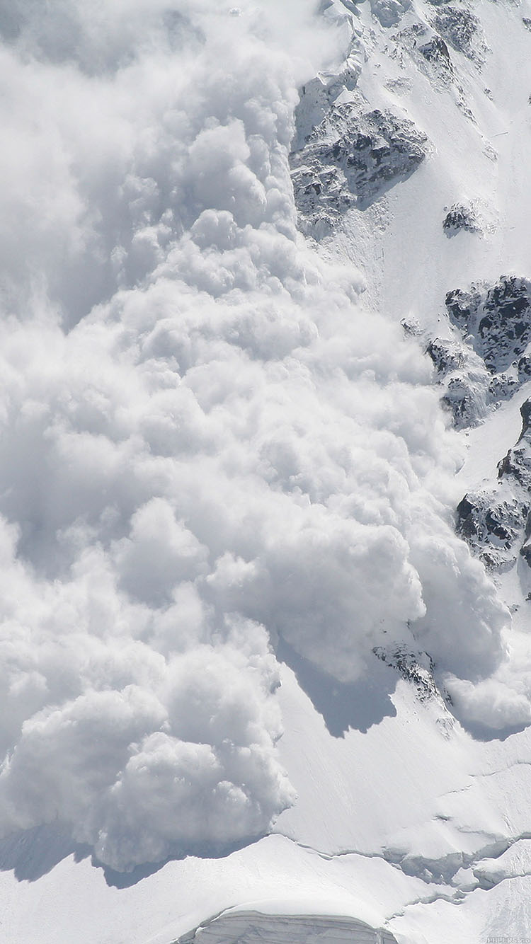 Android Phone Car Wallpapers Mb17 Wallpaper Avalanche Snow Mountain Papers Co