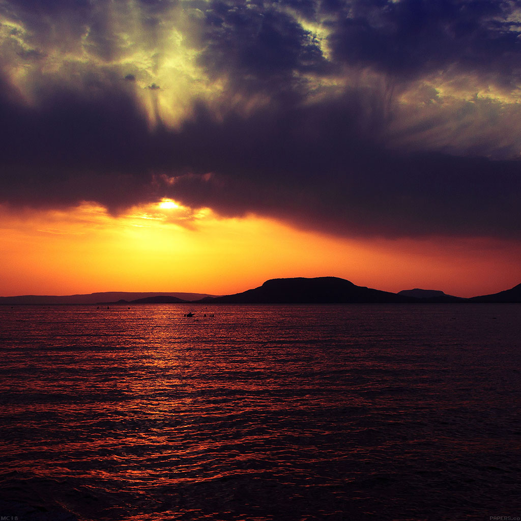 Iphone 5 Hd Wallpaper Retina Mc18 Wallpaper Badacsony Sea Sunset Papers Co