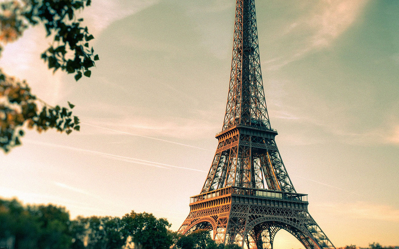 Anime Sunset Wallpaper Mc32 Wallpaper Eiffel Tower France City Papers Co