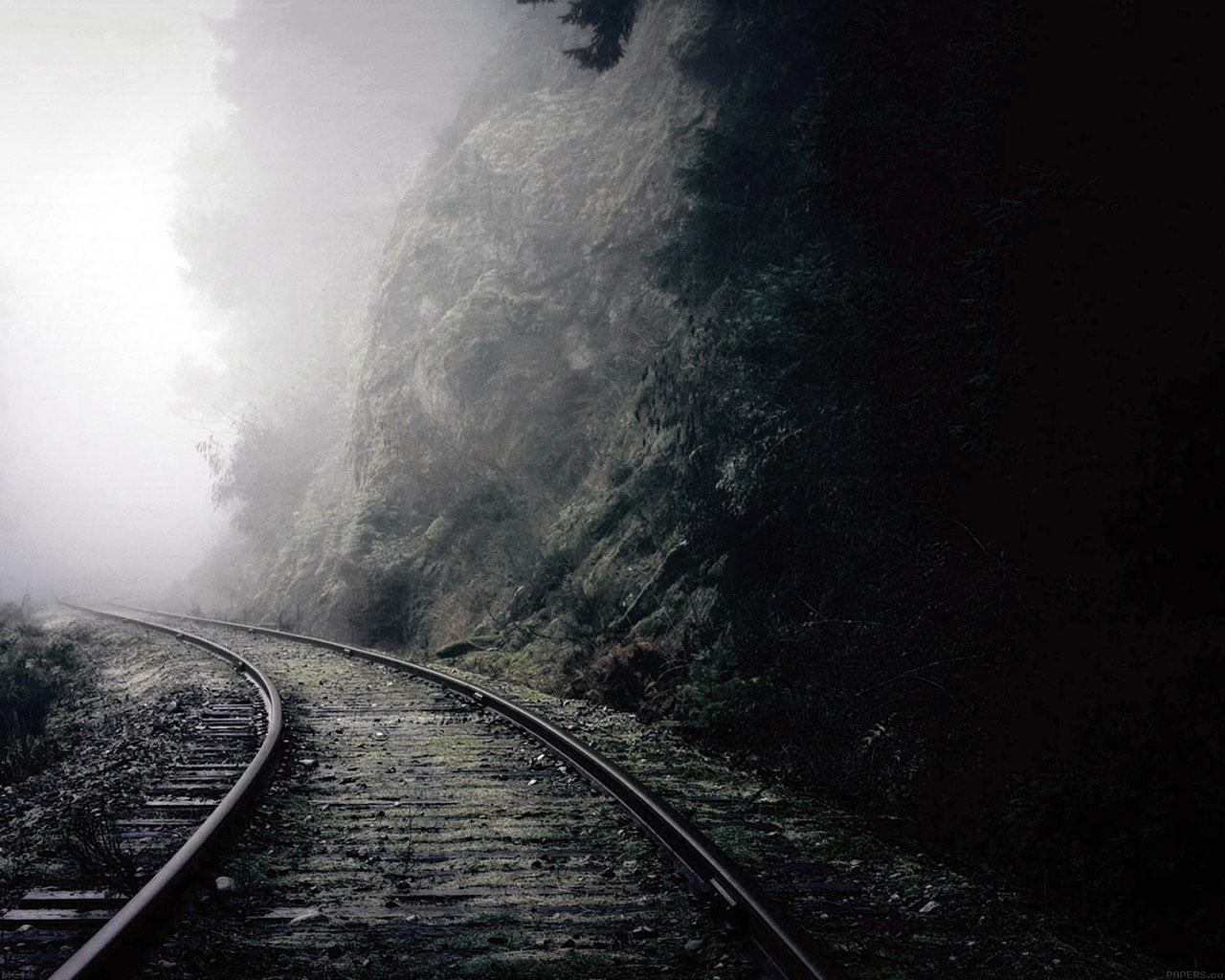 Mc49 Wallpaper Mountain Foggy Road