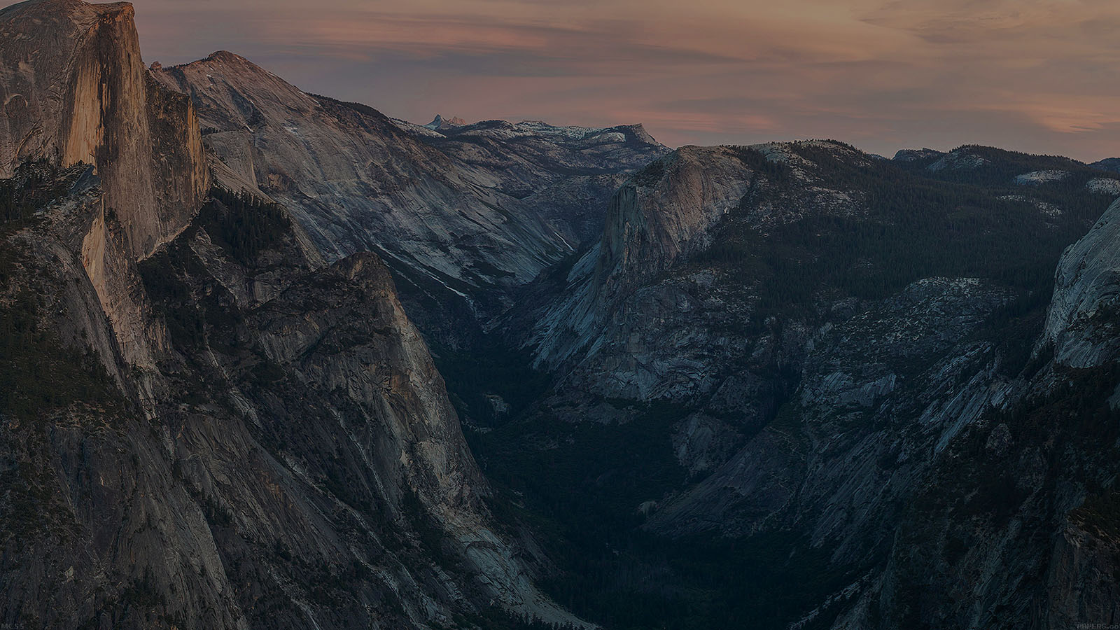 Fall Desktop Wallpaper Mc55 Wallpaper Glacier Point At Sunset Yosemite Dark
