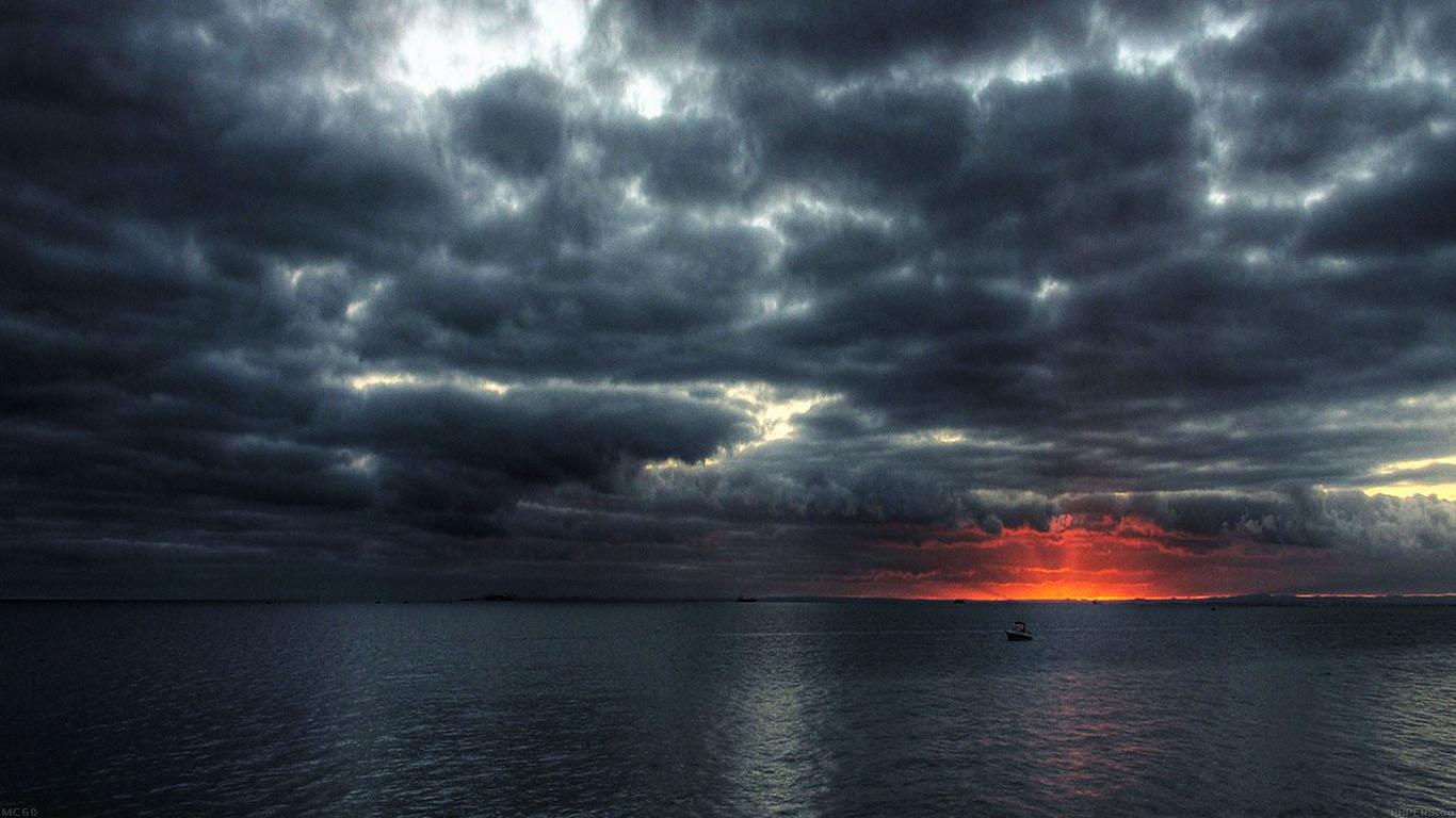Fall Ipad Wallpaper Hd Mc60 Wallpaper Dark Sea Storm Night Ocean Papers Co