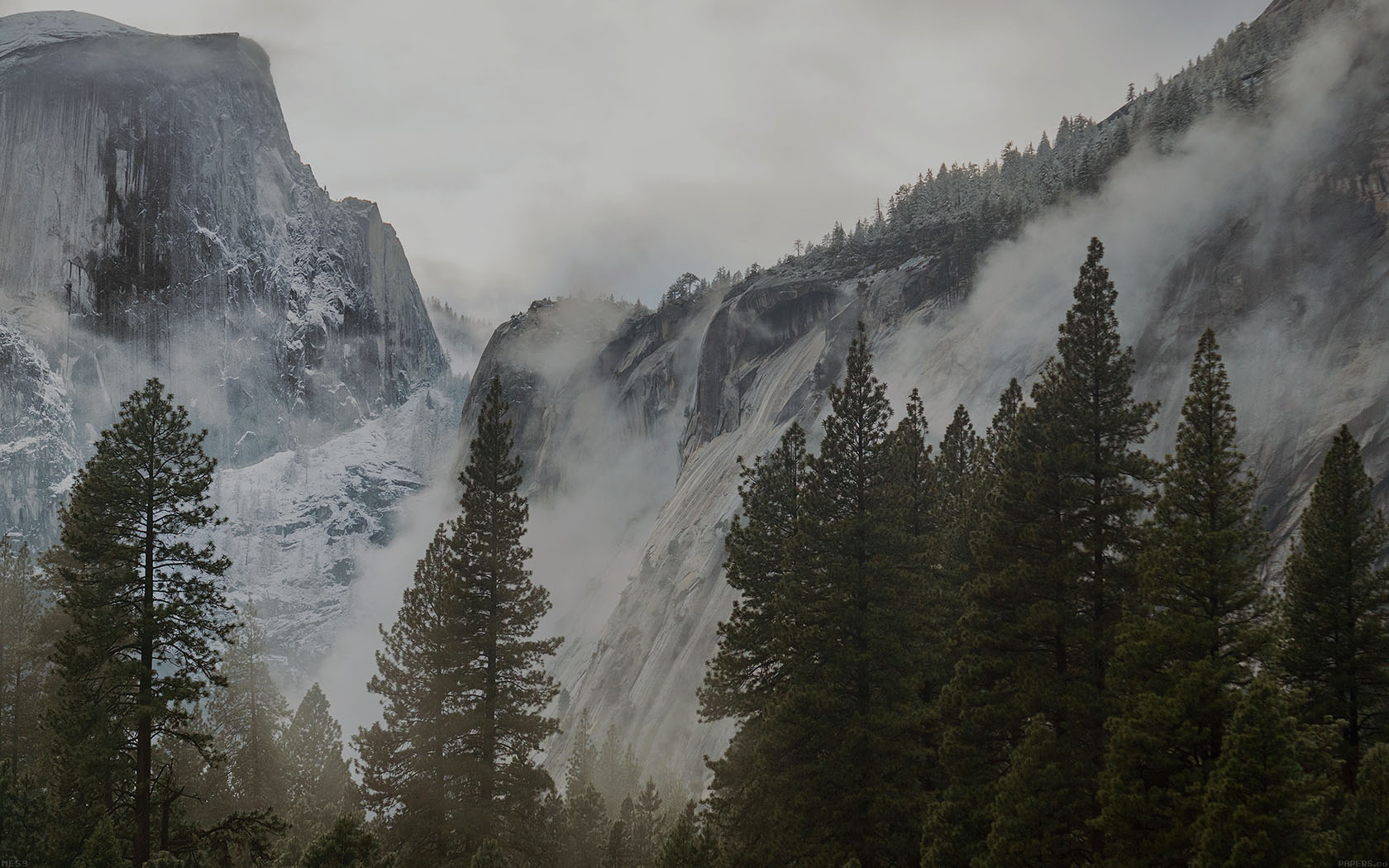 Fall Hd Wallpapers For Mac Me59 Yosemite Snow Dark Mountain Nature Wallpaper