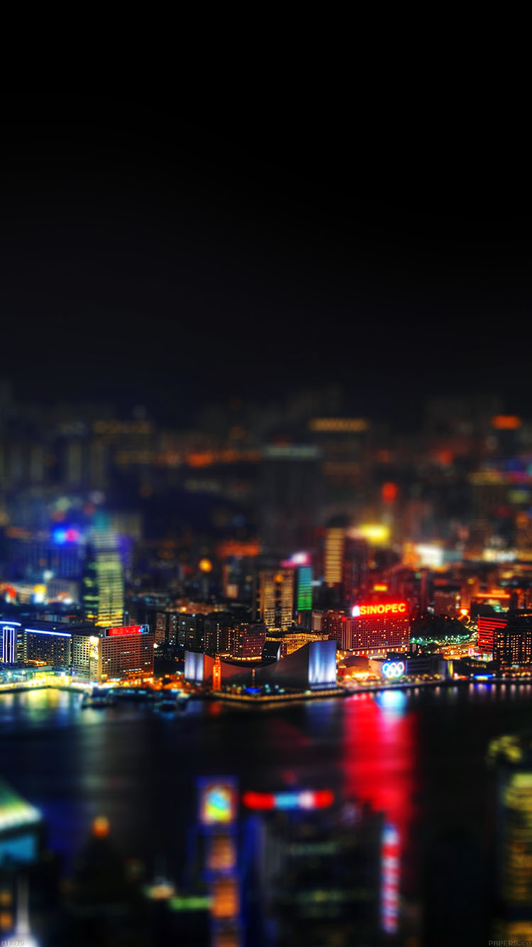 Dope Car Wallpapers Me92 Hongkong Night Cityscapes Lights Papers Co