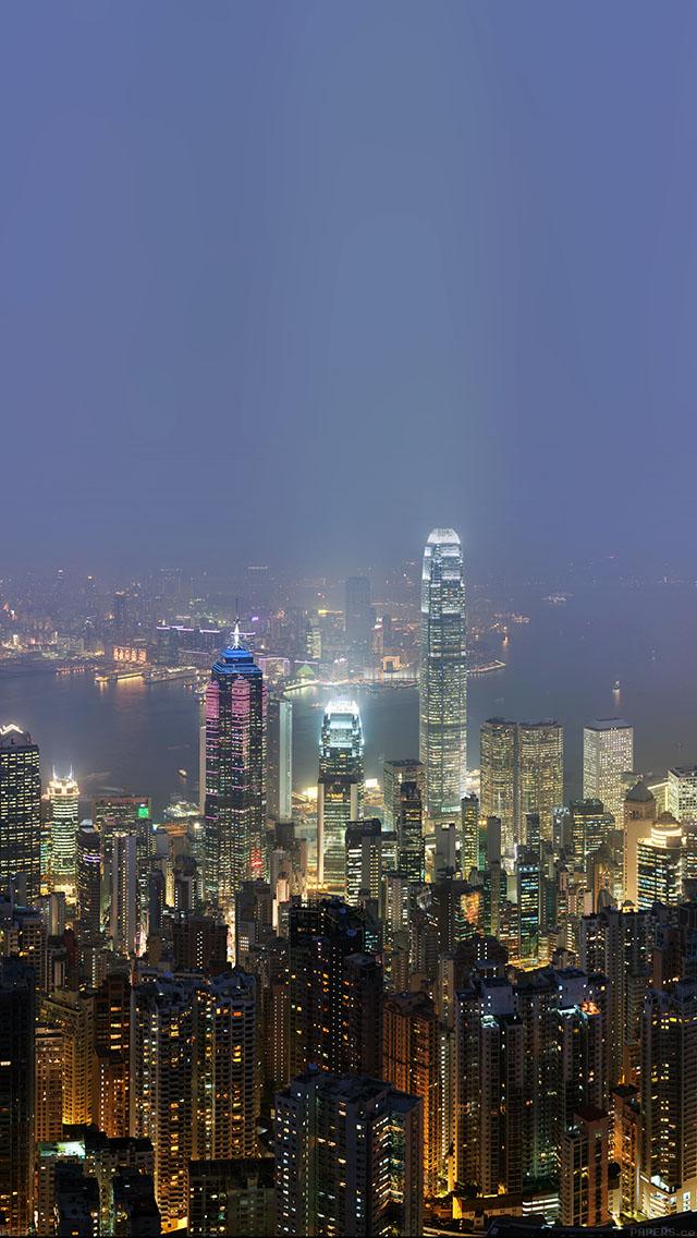 Disney Live Wallpaper Iphone X Me96 Skyline Hongkong City Night Live Papers Co