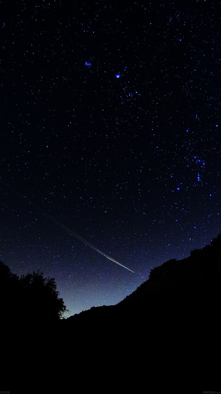 Wallpaper Art Falling Mg36 Astronomy Space Dark Sky Night Beautiful Falling Star