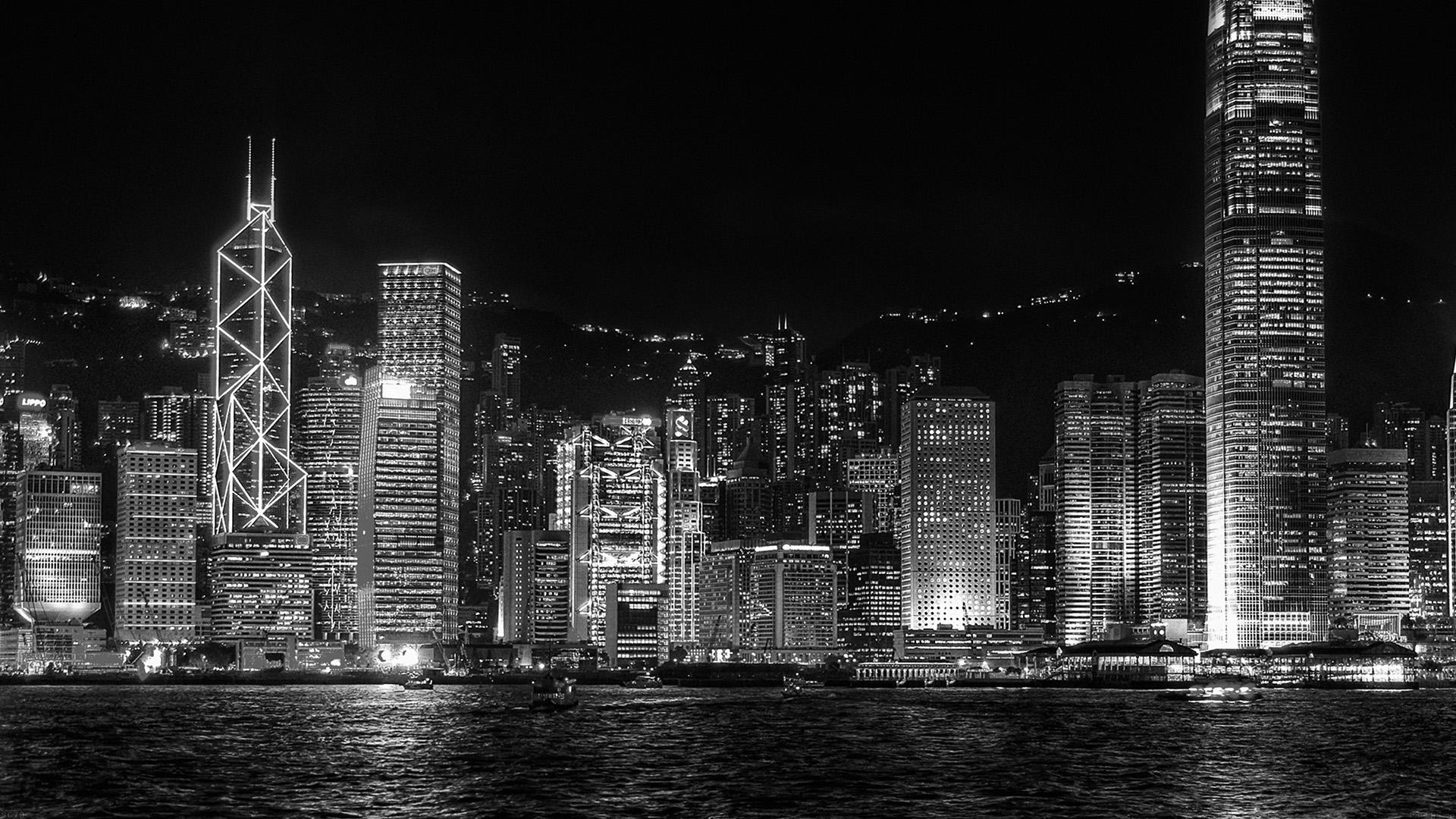 Summer Fall Desktop Wallpaper Mh95 Hongkong Night Symposium Of Light Dark Wallpaper