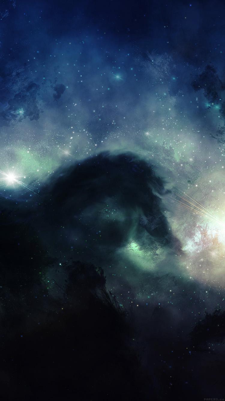 Disney Iphone 6 Wallpaper Mj64 Illuminating Space Blue Star Galaxy Art Papers Co
