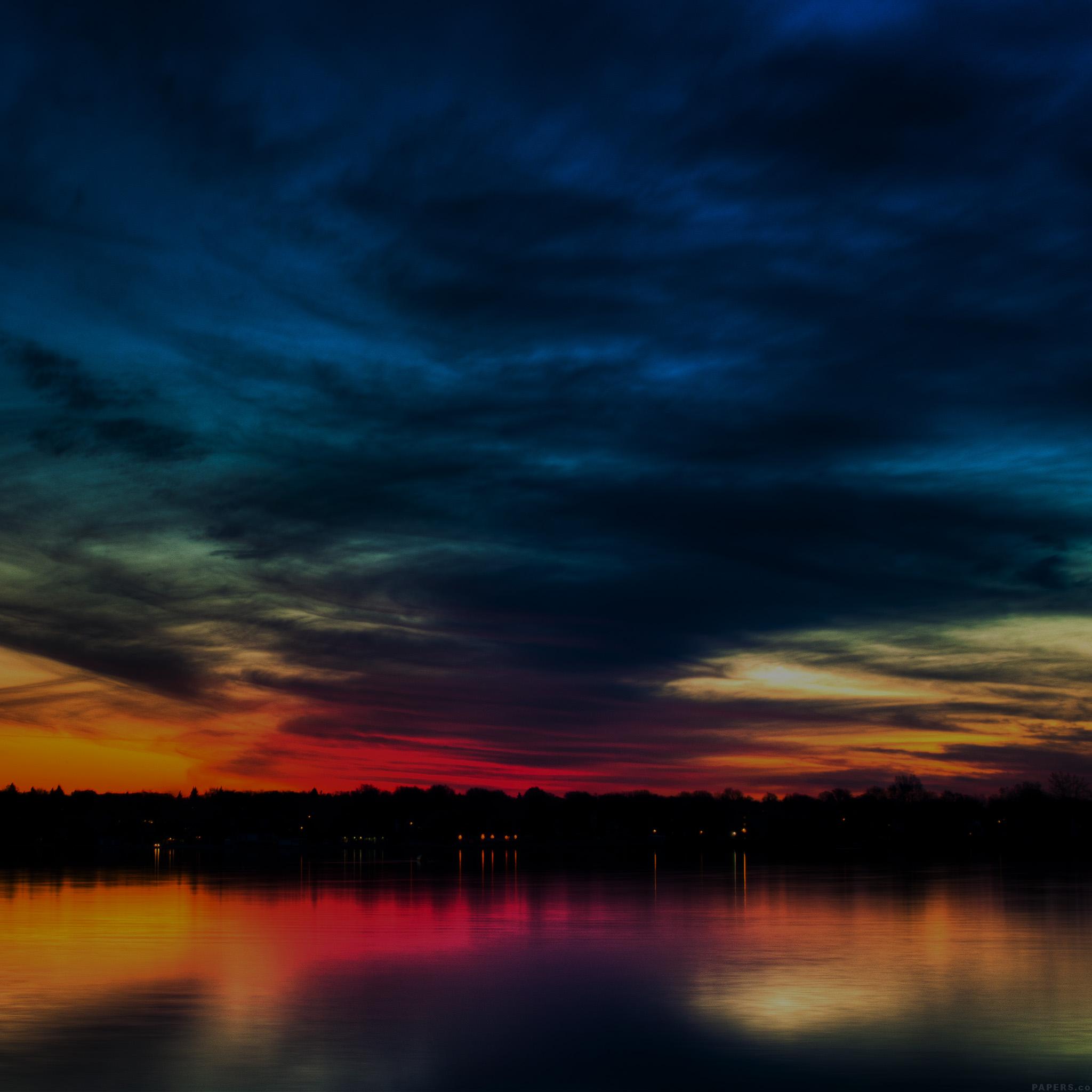 Samsung Galaxy Wallpaper Hd Mj80 Rainbow In The Sky Dark Lake Sea Nature Wallpaper