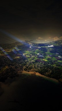 Mm05-flight-sunny-day-sky-dark-bokeh-high-mountains-nature