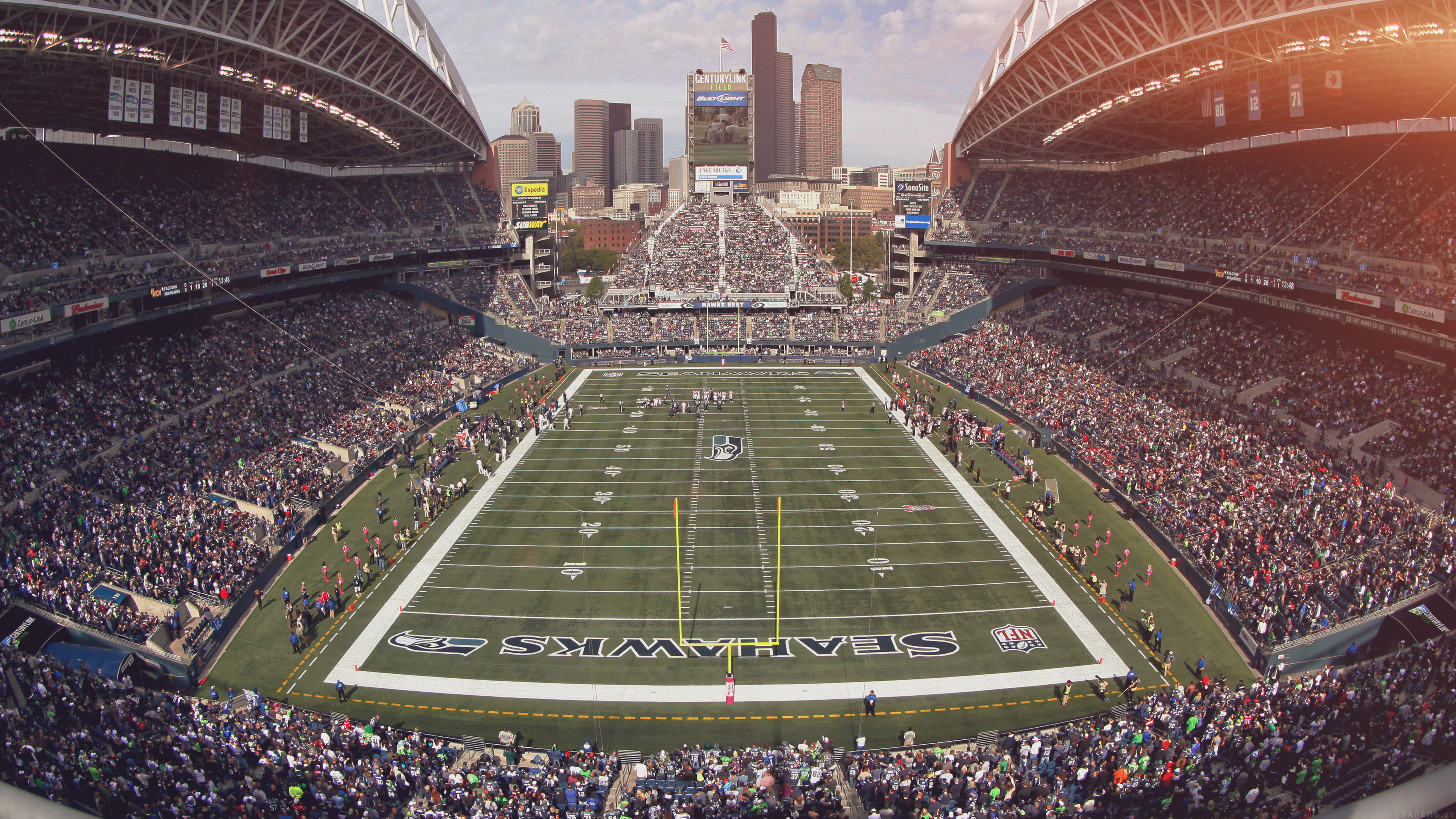 Fall Wallpaper For Macbook Air Mp98 Seahawks Seattle Sports Stadium Football Nfl Papers Co
