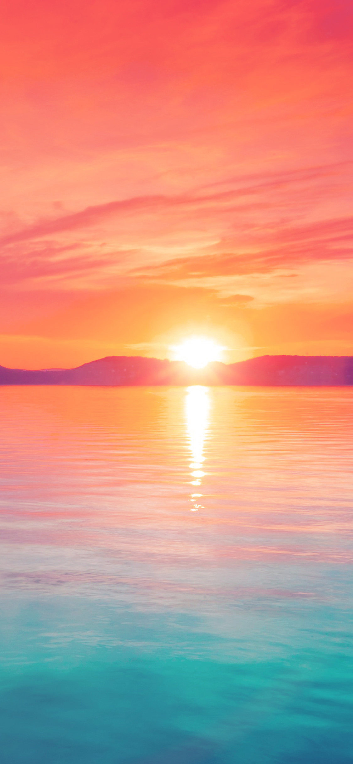 Anime Wallpaper Iphone X Mq41 Sunset Night Lake Water Sky Red Flare Papers Co