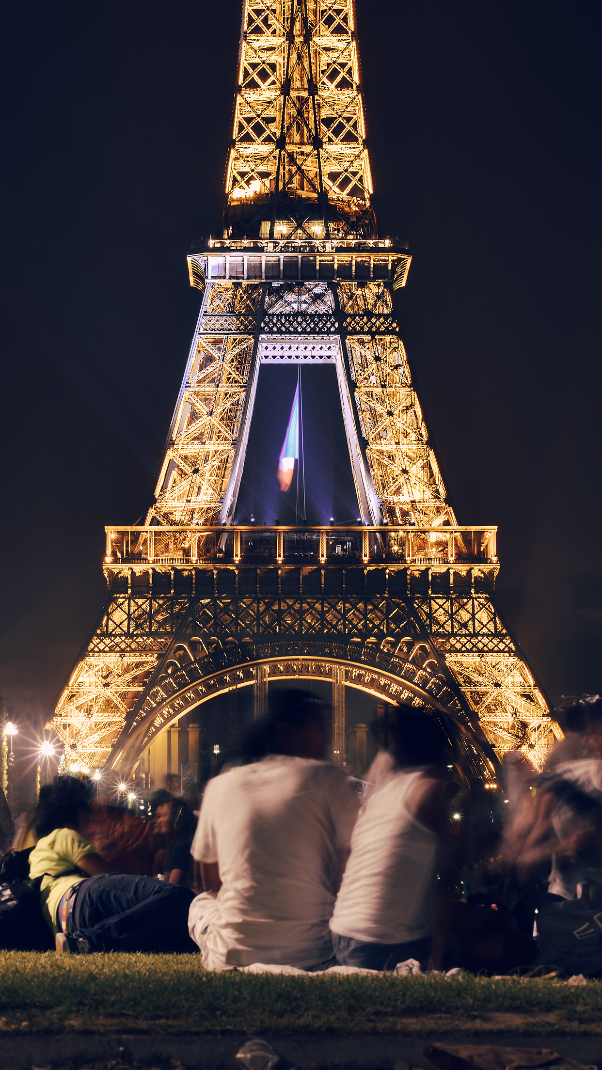 Paris Wallpaper Cute Hd Ms39 Happy Paris Eiffel Tower France Tour Night City Dark
