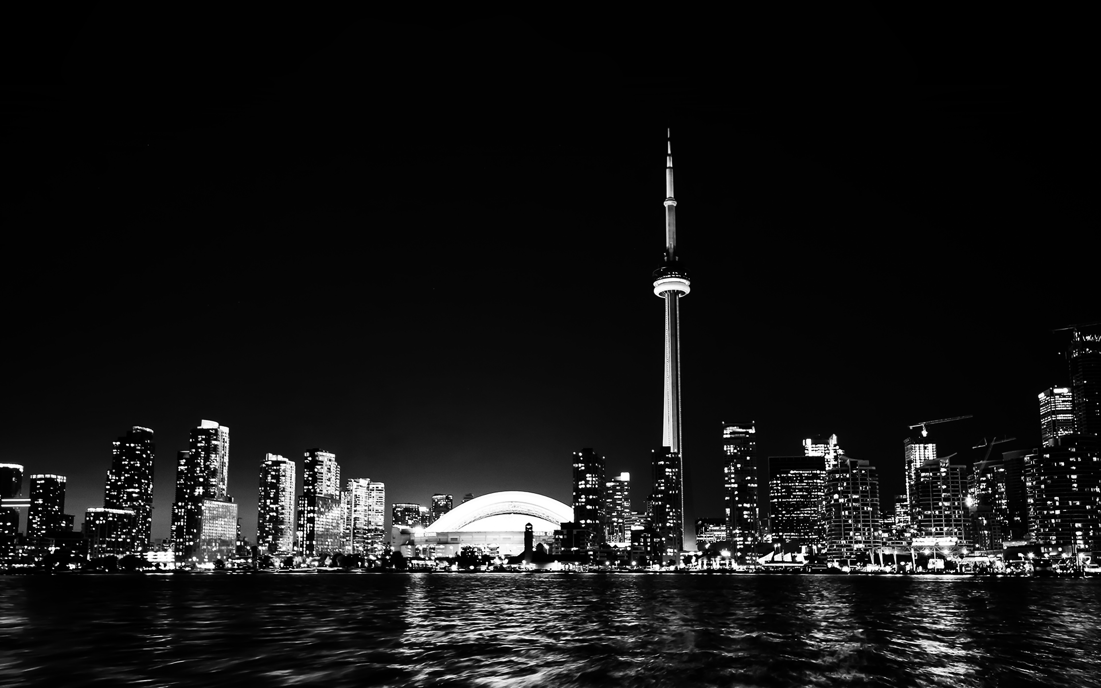 Cute God Images For Wallpaper Mt45 Toronto City Night Missing Tower Dark Cityview Bw
