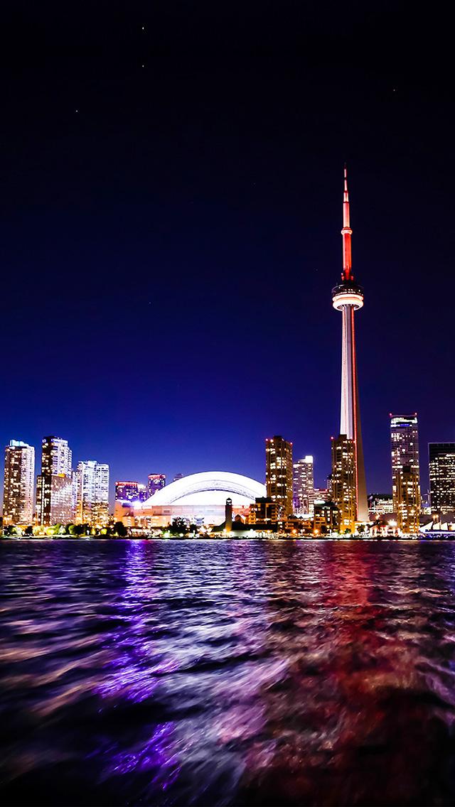 Cute Wallpaper Ipad Mini Mw70 Toronto Lake Canada City Night View Papers Co