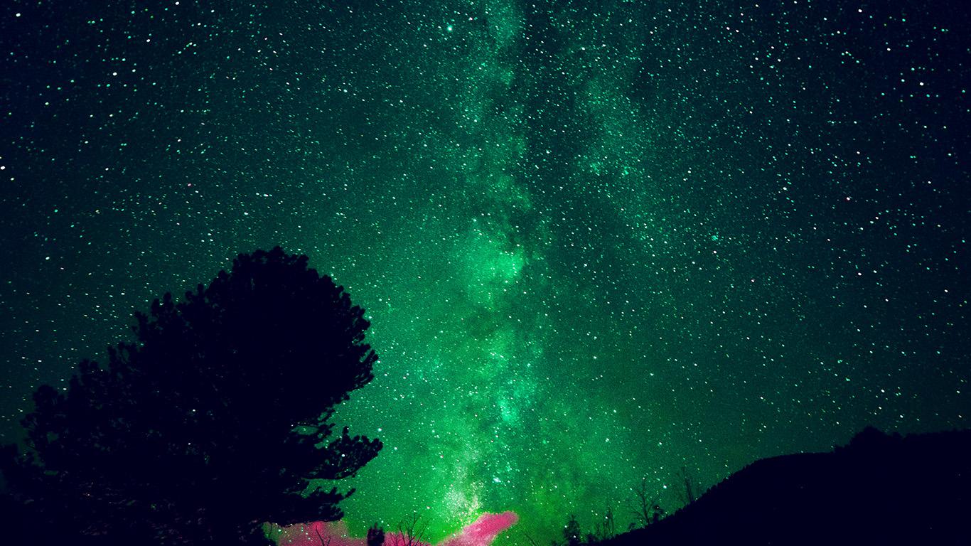 Macbook Wallpaper Fall My60 Aurora Night Sky Star Space Nature Green Wallpaper