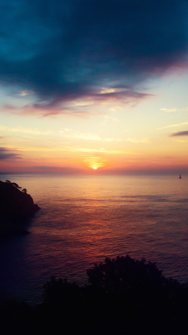 Disney Iphone X Wallpaper Nb90 Sky Sunset Sea Nature Night Wallpaper