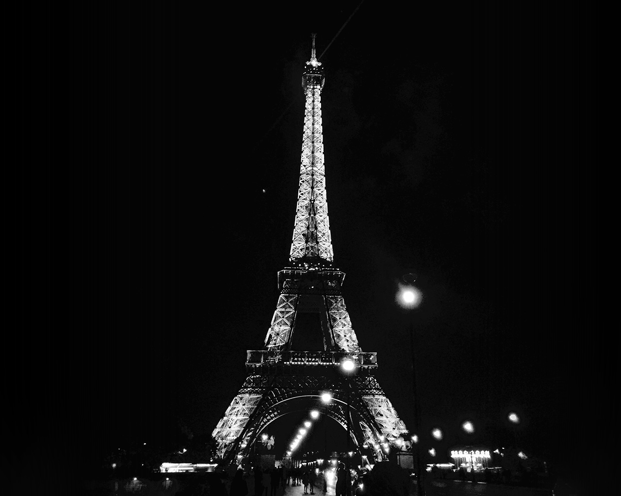 Laptop Wallpapers Fall Nd29 Paris City Art Night France Eiffel Tower Dark Bw