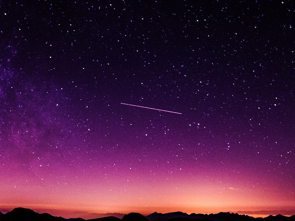 Cute Purple Pattern Wallpaper Ne63 Star Galaxy Night Sky Mountain Purple Red Nature
