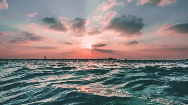 Wallpaper Desktop Laptop Nf43-sunset-sea-sky-ocean-summer-green-water-nature