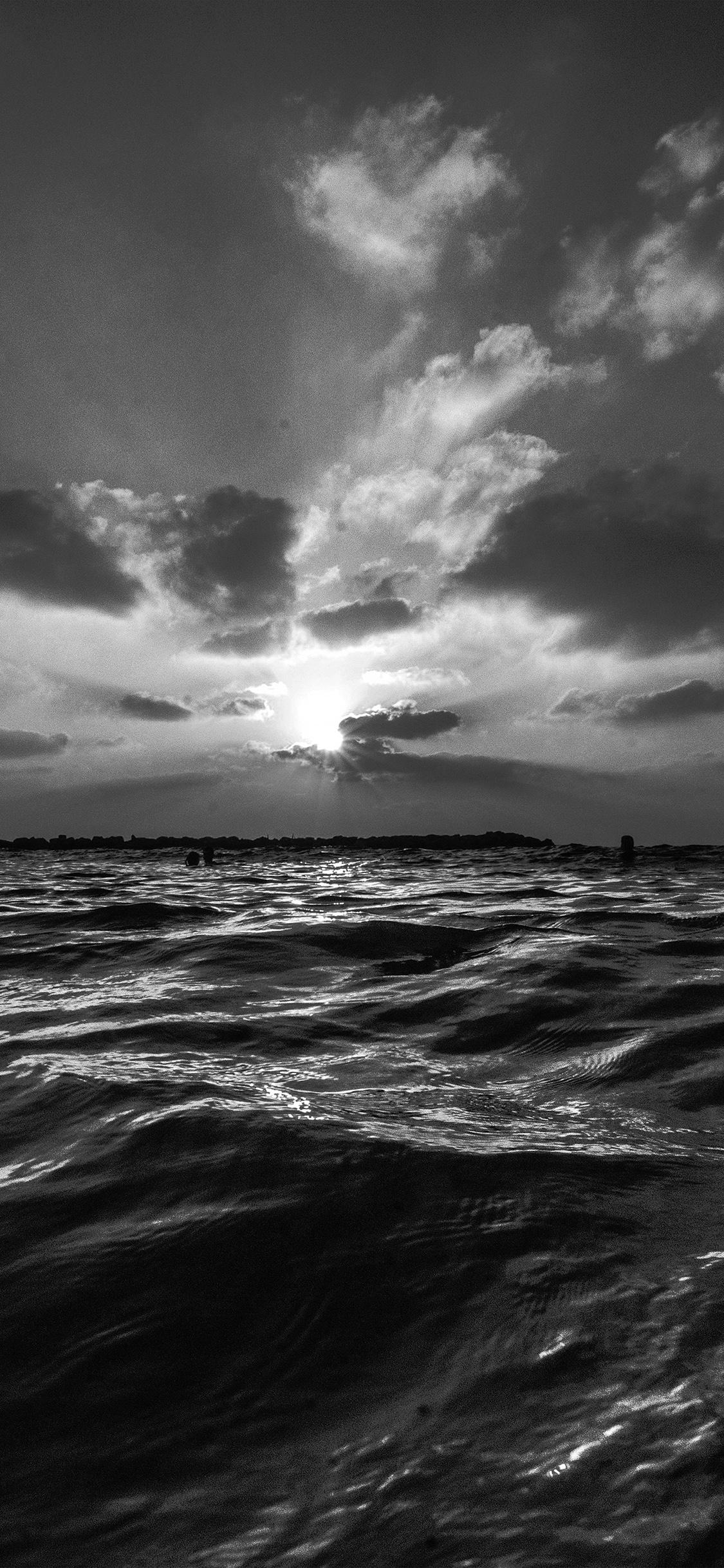 Summer Iphone Wallpaper Nf45 Sunset Sea Sky Ocean Summer Dark Bw Water Nature