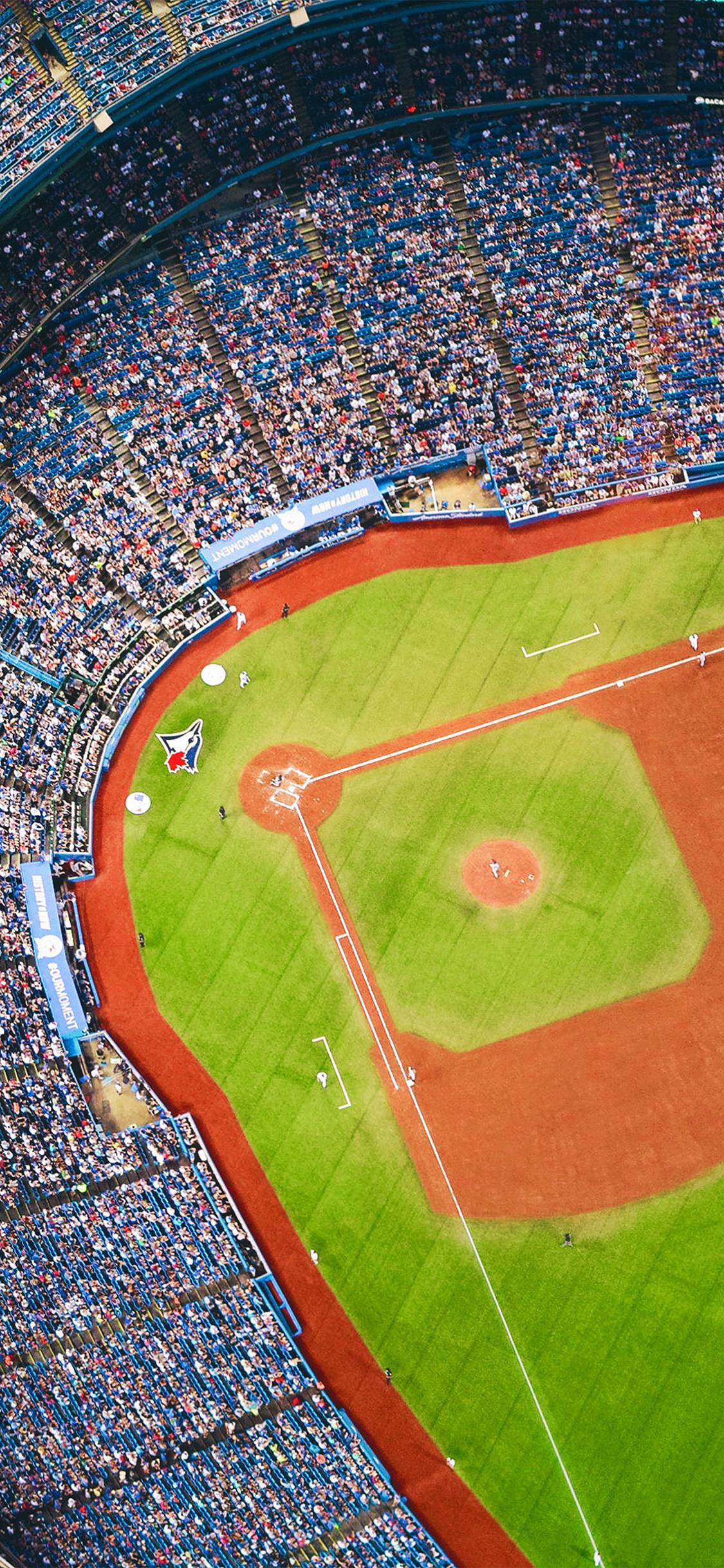 Mlb Iphone Wallpaper Nh26 Bluejays Baseball Mlb Field Sports Wallpaper