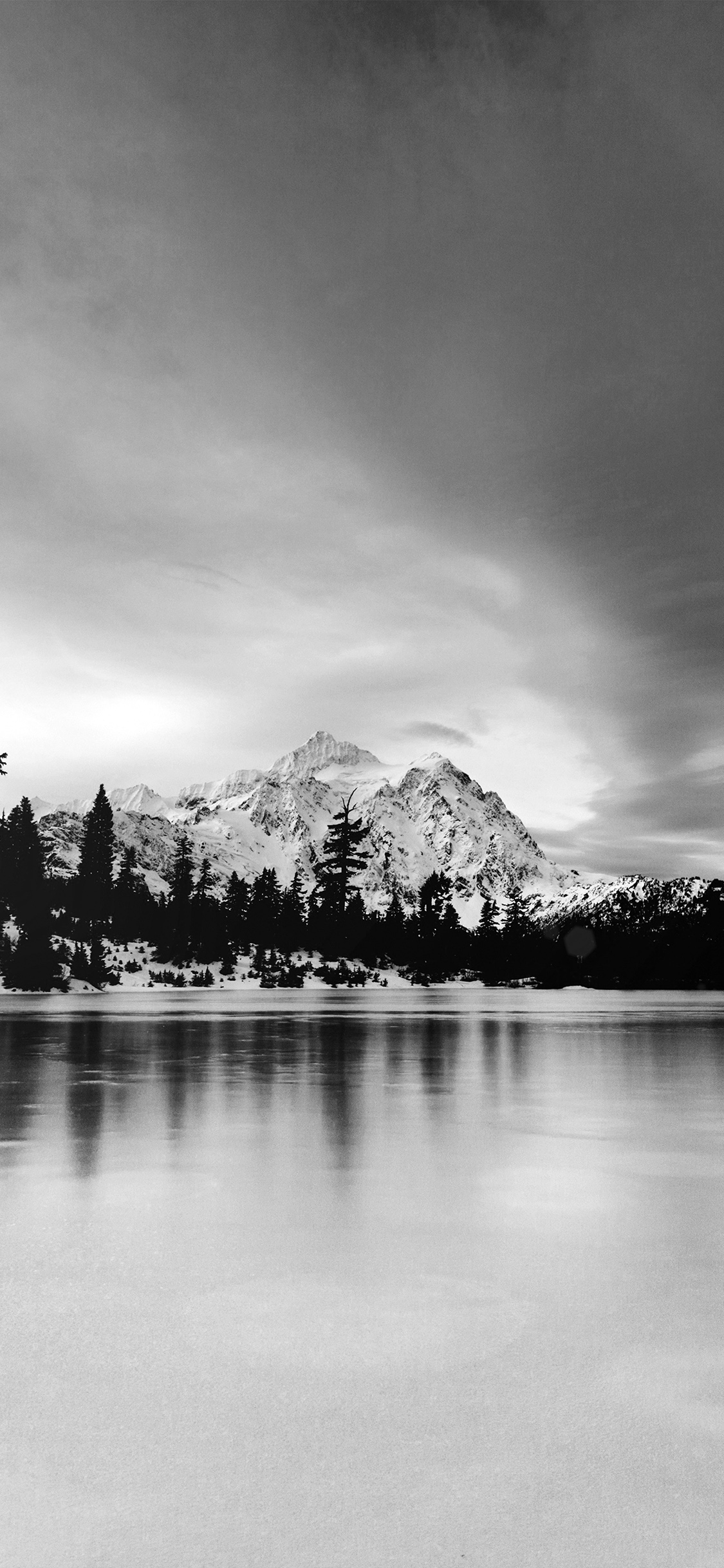 Hd Wallpapers Imac 27 Ni39 Frozen Lake Winter Snow Wood Forest Cold Bw Dark