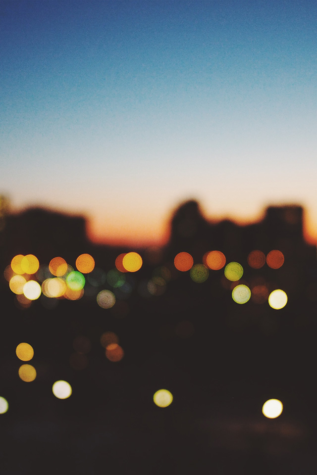 Google Wallpaper Iphone Nm99 Light Bokeh Sunset City Wallpaper