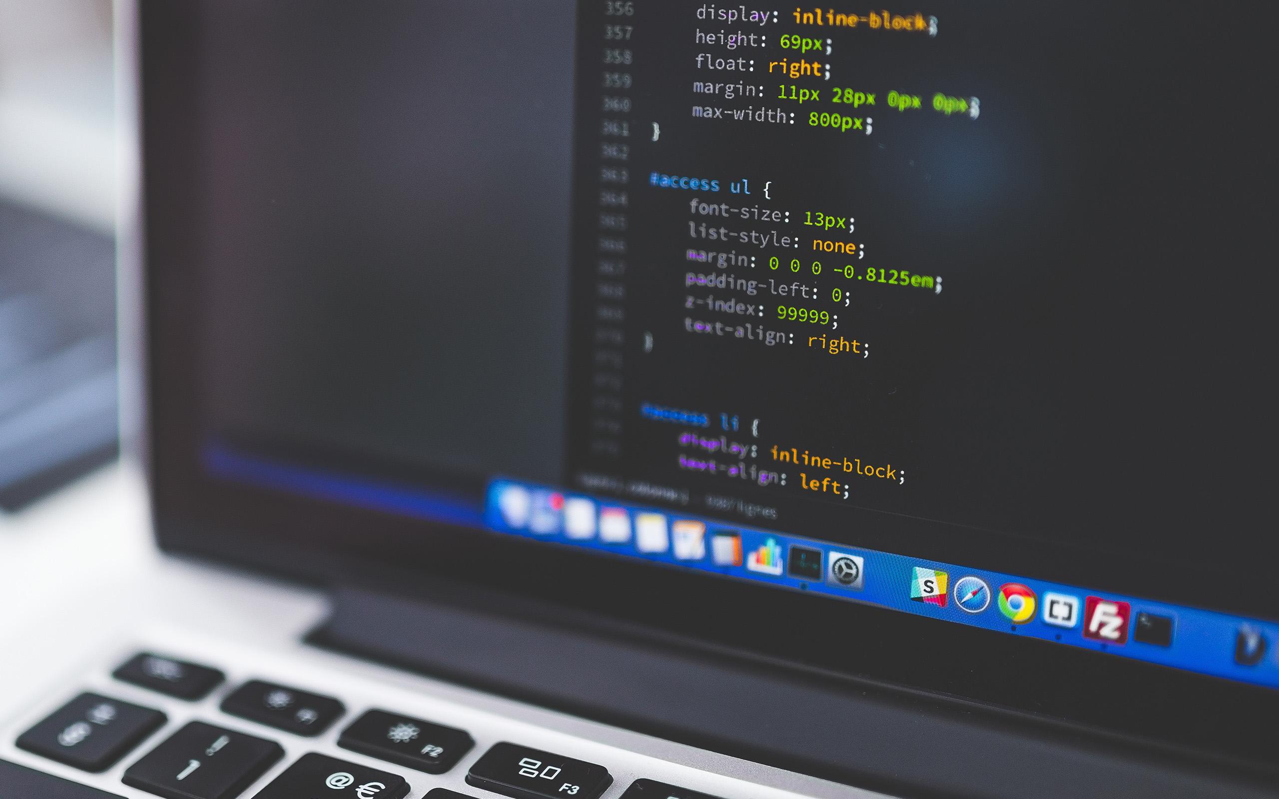 Hd Wallpapers Developer Wallpaper For Desktop Laptop No02 Macbook Bokeh Coding