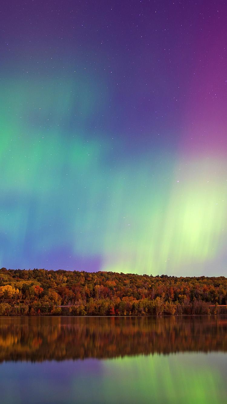 Classic Wallpaper For Iphone X No82 Aurora Night Sky Nature Wallpaper
