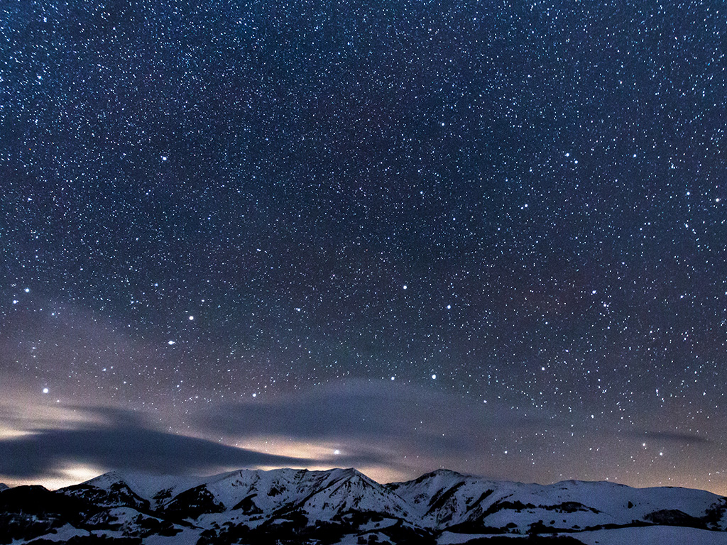 Fall Winter Wallpaper Ns40 Snow Night Sky Star Space Nature Wallpaper