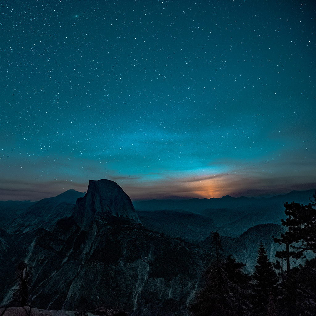 Droid X Girl Wallpaper Ns52 Mountain Night Sky Star Space Nature Wallpaper