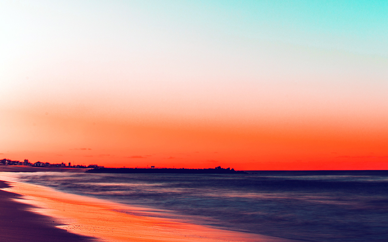 Fall Wallpaper For Laptop Nu78 Sunset Beach Fall Night Sea Nature Red Wallpaper